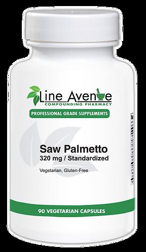 Saw Palmetto 320 mg white plastic bottle image