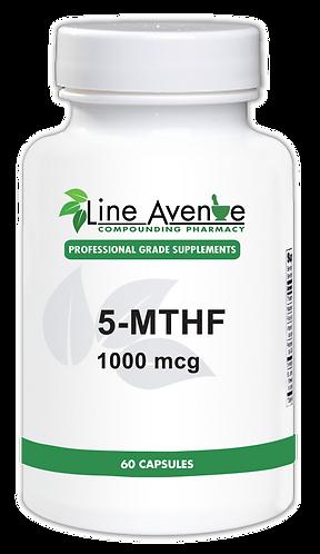 5-MTHF 1 mg white plastic bottle image