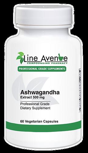 Ashwagandha Extract 500 mg white plastic bottle image