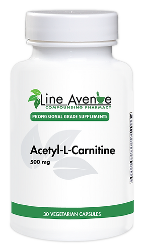 Acetyl-L-Carnitine / 500 mg white plastic bottle image