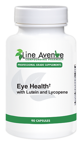 Eye Health with Lutein and Lycopene white plastic bottle image