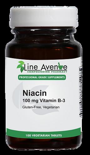 Niacin Vitamin B3 - 100 mg brown glass bottle image