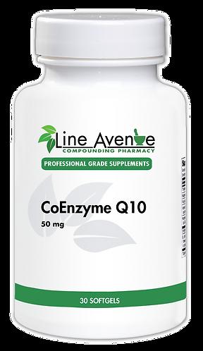 CoEnzyme Q10 - 50 mg white plastic bottle image