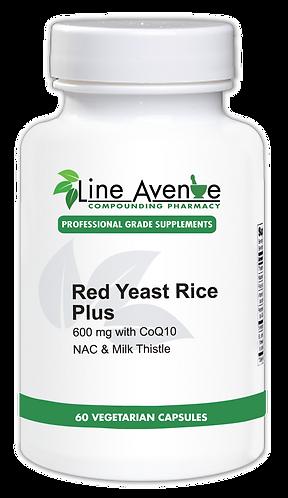 Red Yeast Rice Plus white plastic bottle image