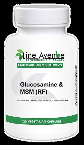 Glucosamine & MSM (RF) white plastic bottle image