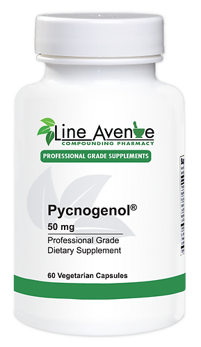 Pycnogenol 50 mg white plastic bottle image