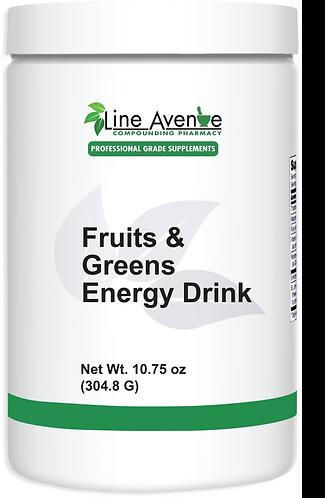Fruits & Greens Energy Drink large white plastic jar image