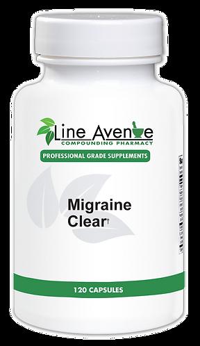 Migraine Clear white plastic bottle image