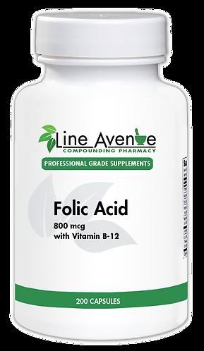 Folic Acid white plastic bottle image