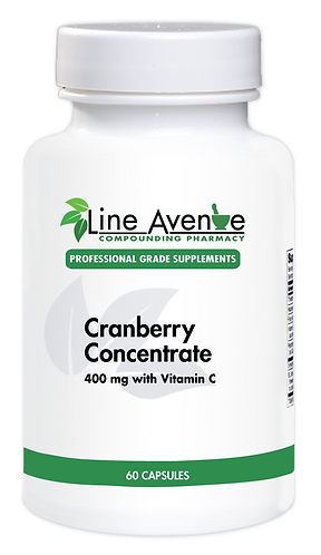 Cranberry Concentrate white plastic bottle image