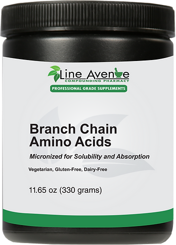 Branch Chain Amino Acids (BCAA) brown plastic jar image