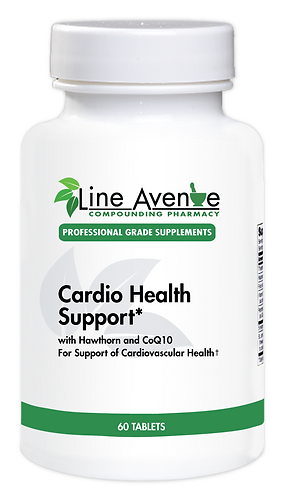 Cardio Health Support with Hawthorn & CoQ10 white plastic bottle image