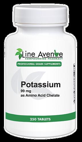 Potassium white plastic bottle image