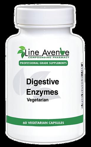 Digestive Enzymes Vegetarian white plastic bottle image