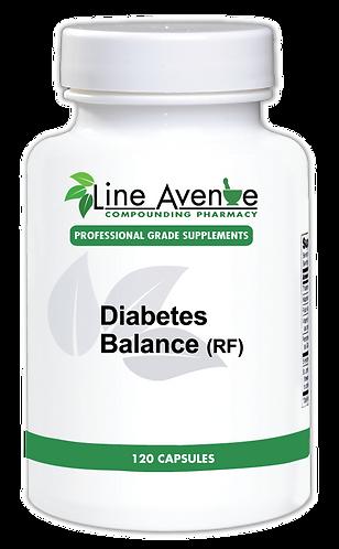 Diabetes Balance (RF) 120 capsules white plastic bottle image