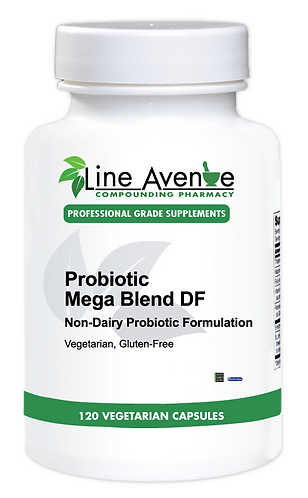 Probiotic Mega Blend DF white plastic bottle image