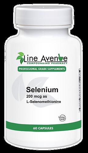 Selenium/200 mcg as L-Selenomethionine white plastic bottle image