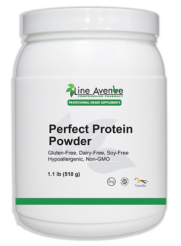 Perfect Protein Powder large white plastic jar image