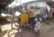 Kids with manual popcorn machine in Kotido, Uganda