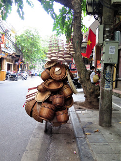 Sales in the bicycle in Hanoi, Vietnam