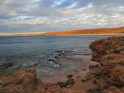 Red bluff ocean photorgraphy at sunset, Western Australia