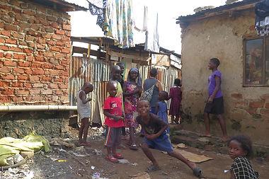 African children in Katanga slum, Kampala, Kotido