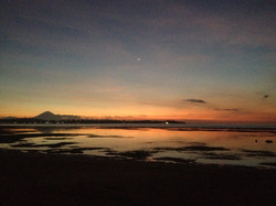 Bali far away and the sunset, Indo