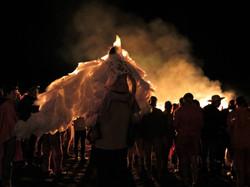 The blaze by night