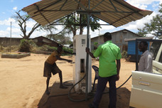 Old manual fuel pump in Karamoja, Uganda