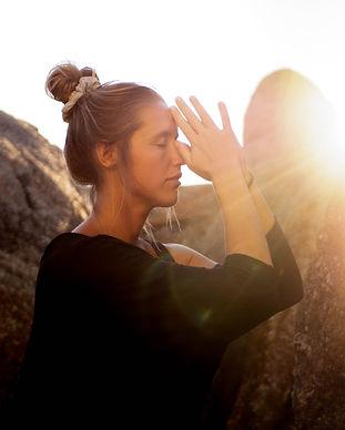 Spiritual praying lady rocks cape town llundadno