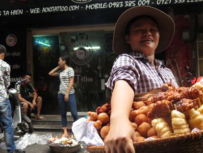 Street seller in Hanoi