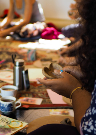 """Heart Clay Artwork """"Connect with self through clay and art workshop"""" Bodhi Breathwork and Yoga, Hout Bay, Cape Town, South Africa"""