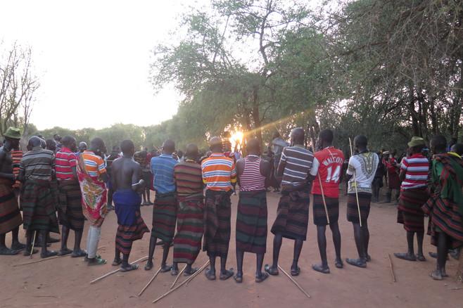 Traditional dance of the Karamajong, Karamoja, Uganda