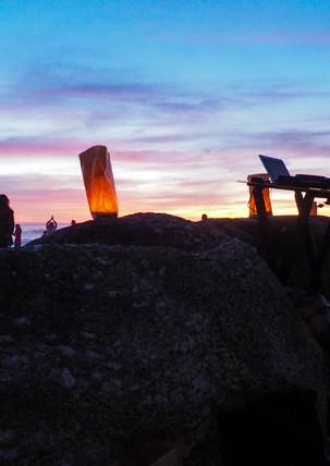 Beautiful sunset at Conscious Beach Dance at Clifton 1, Cape Town