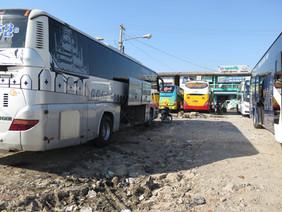 Busstation in an open road