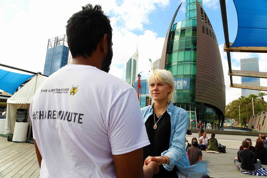 Great project in Perth: eye contact