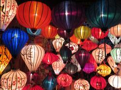 Beautiful light lantarns in Hoi An, Vietnam