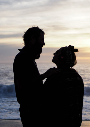 Couple on the beach at the Conscious Beach Dance at Clifton 1, Cape Town