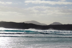 Lucky Bay, waves with white water at top,- Esperance