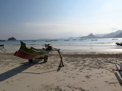Boat on the beach in Lombok, Indones