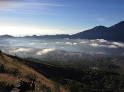 Clouds from up top Batur