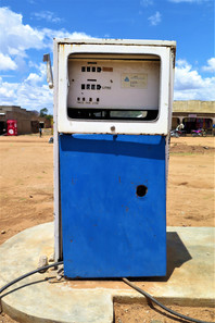 Manual fuel pump, Karamoja, Uganda