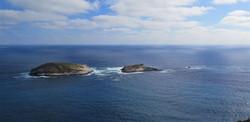 Turtle Islands in the ocean near Albany, Western Australia