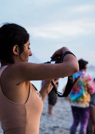Photographer at Conscious Beach Dance at Clifton 1, Cape Town