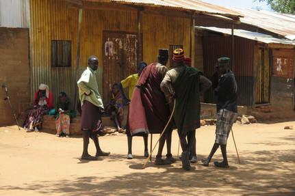 Local farmers of the Karamoja area in Uganda, having a chat