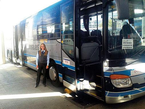 Uno de los trayectos que hacía Susana García de la Parte era Luanco a Oviedo. (S. G.)