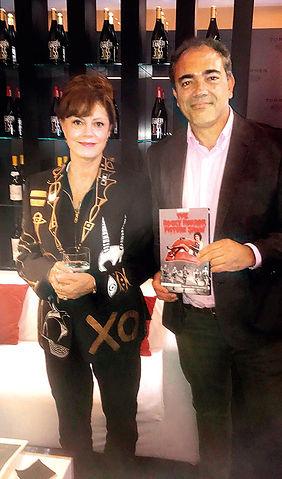 Iriondo, con Susan Sarandon, actriz y productora estadounidense.