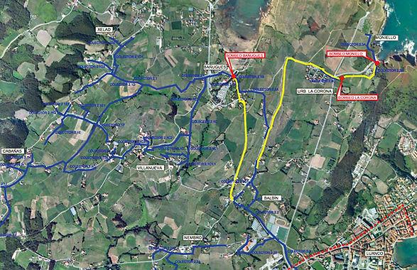 La instalación sortea la GO-2, como se aprecia en el mapa. (CHC)