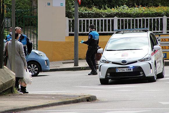 Control policial en tiempos de coronavirus. (L. VENTURA)