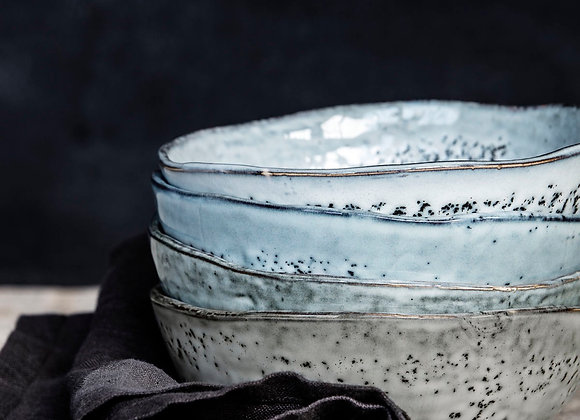 House Doctor Bowl, Rustic, Grey/Blue